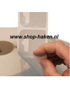 Kleefplaatje tbv Euro-blisterhk, rol 2000 st 50x50 mm