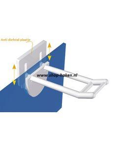 Anti diefstal plastic dubbele haak vv smalle houder