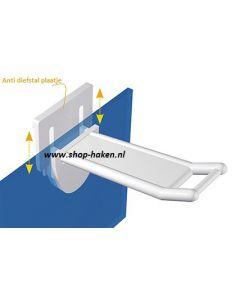 Anti diefstal gesloten plastic dubbele haak vv smalle houder