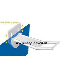 Anti diefstal gesloten plastic dubbele haak vv brede houder