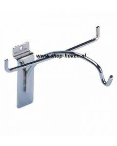 Brillenhouder vv poot 80x5mm tbv slatwall chroom