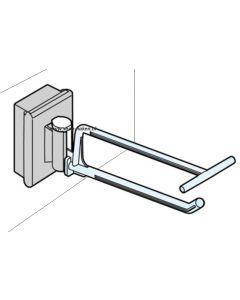 Haak met verticale magneet voor rugwand